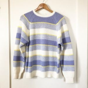 VINTAGE Chunky Knit Sweater Artsy Quirky Pastel